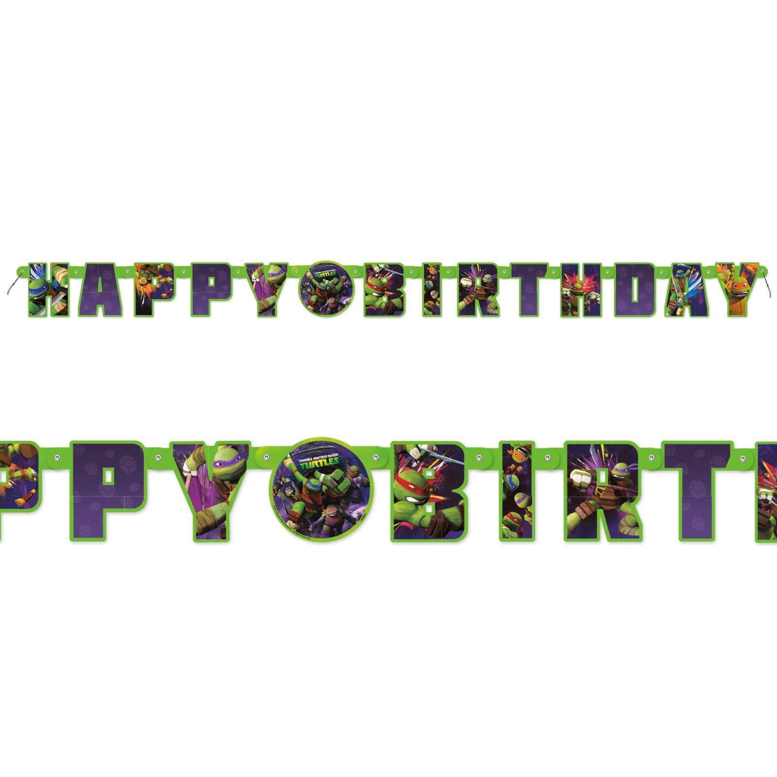 Nickelodeon Teenage Mutant Ninja Turtles Birthday Letter Banner