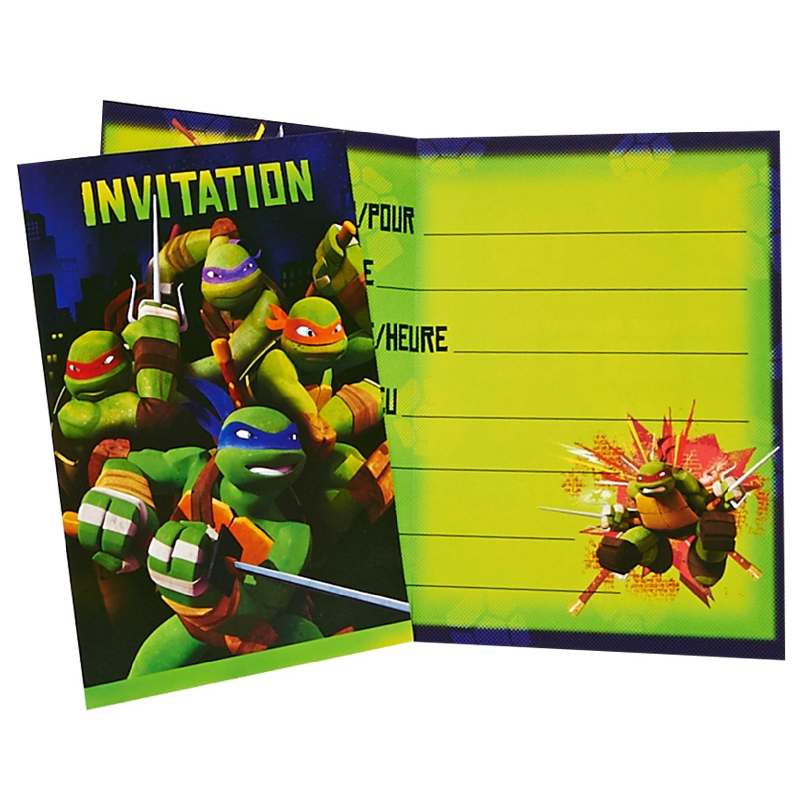 Nickelodeon Teenage Mutant Ninja Turtles Invitations – Teenage Mutant Ninja Turtles Birthday Invites