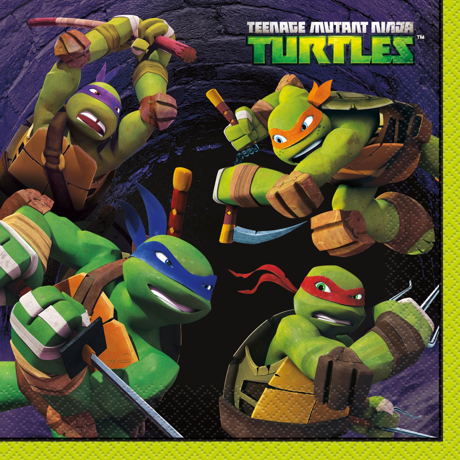 Nickelodeon Teenage Mutant Ninja Turtles Lunch Napkins (16 ...