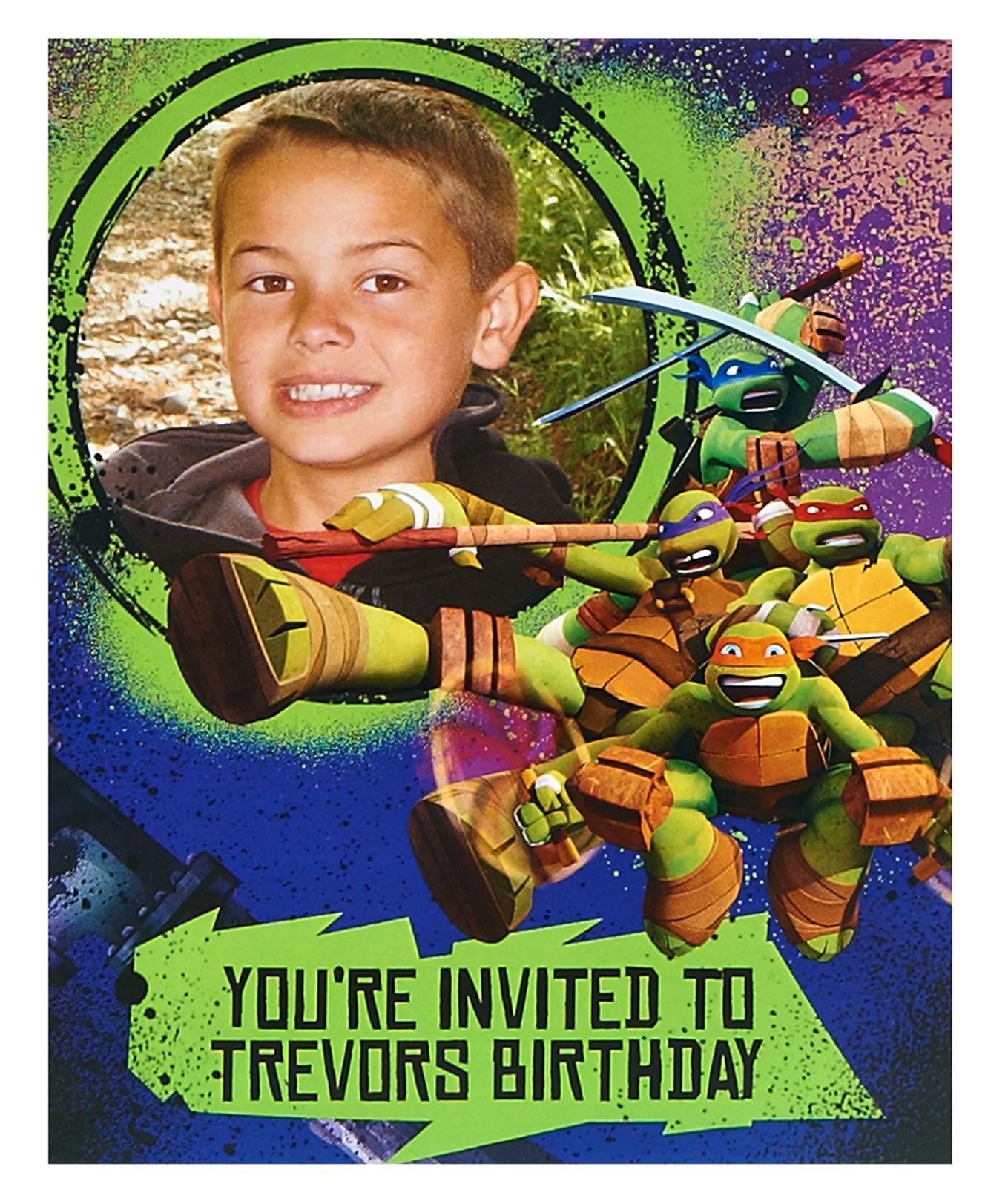 Nickelodeon Teenage Mutant Ninja Turtles Personalized – Teenage Mutant Ninja Turtles Birthday Invites