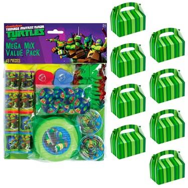 Ninja Turtles Filled Favor Box Kit  (For 8 Guests)