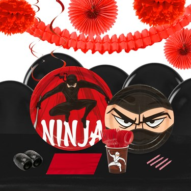 Ninja Warrior 16 Guest Tableware & Deco Kit