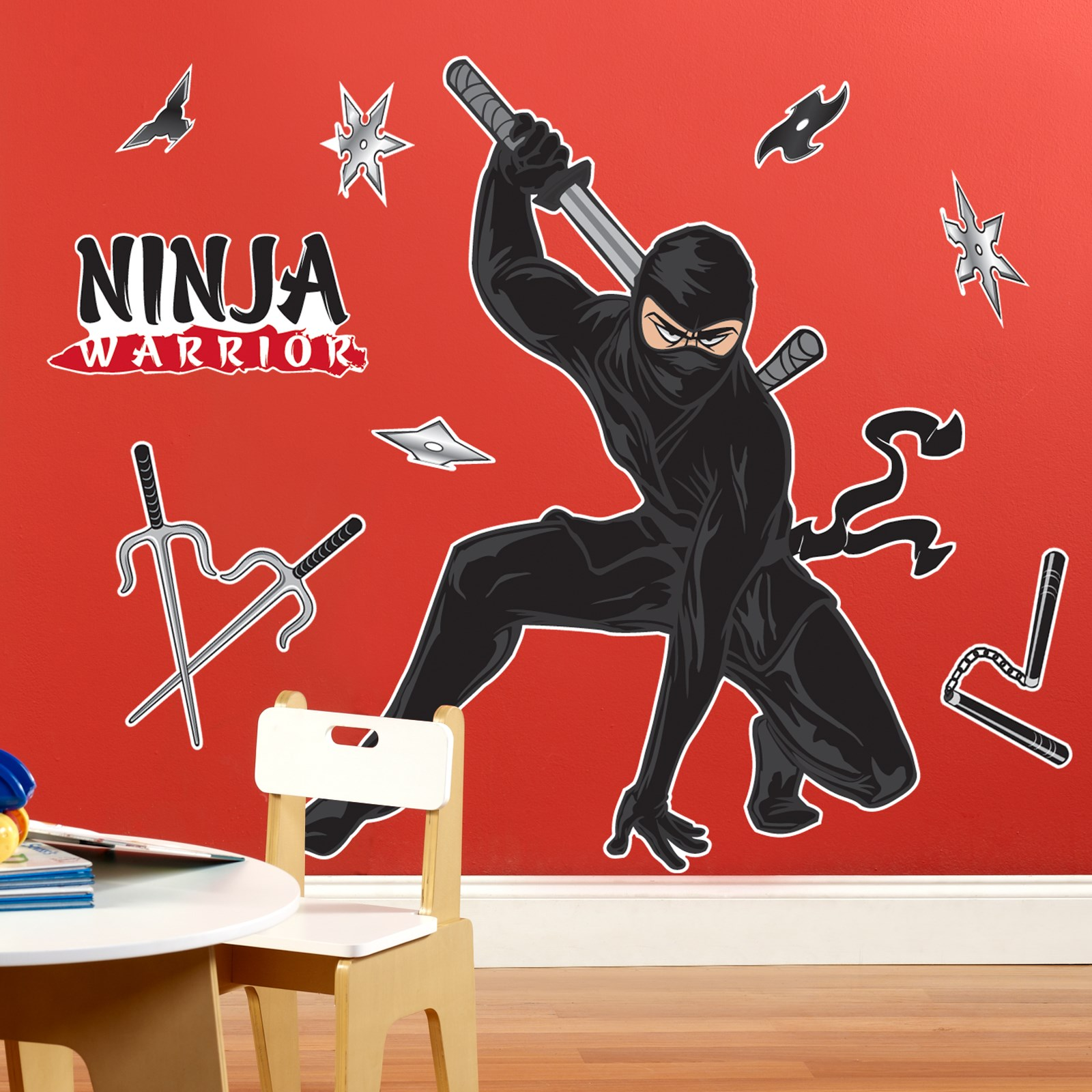 ninja warrior party giant wall decals birthdayexpress com default image ninja warrior party giant wall decals