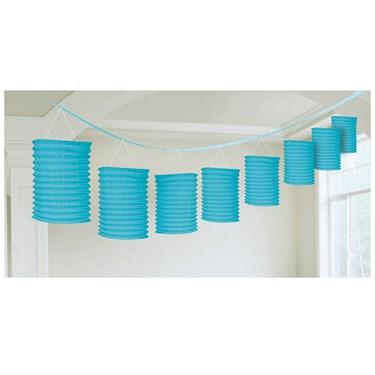Ocean Blue Paper Lantern Garland