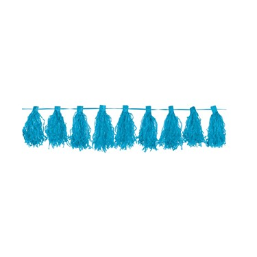 Ocean Blue Paper Tassel Garland