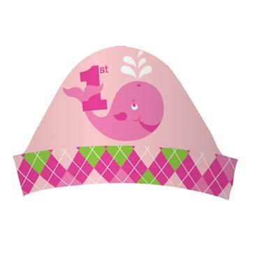 Ocean Preppy Girl 1st Birthday Party Headbands
