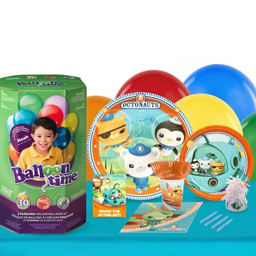 Octonauts 16 Guest Party Pack and Helium Kit