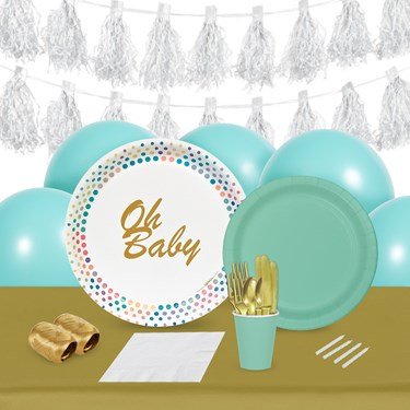 Oh Baby 16 Guest Tableware & Deco Kit