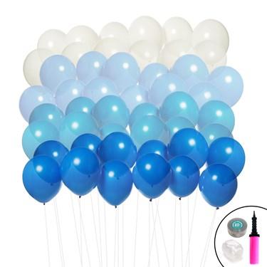 Ombre Balloon Kit (Blue & White)