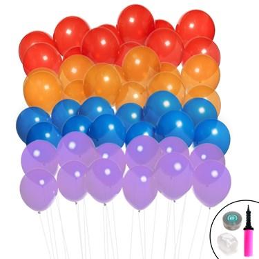 Ombre Balloon Kit (Blue, Purple, Red & Orange)