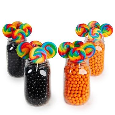 Orange & Black Mason Jar Candy Décor Kit