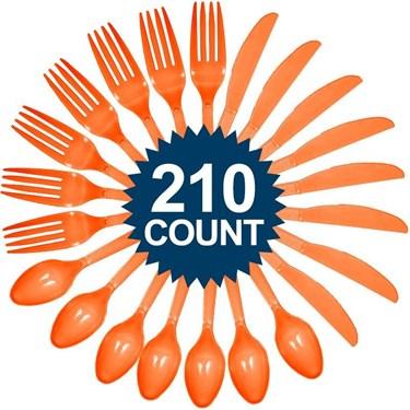 Orange Cutlery Set (210)
