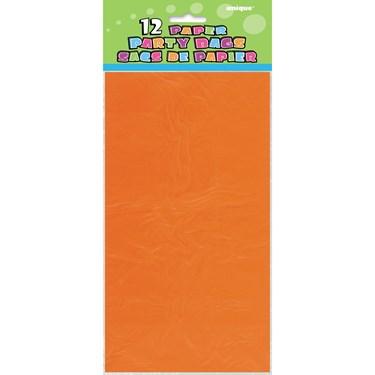 Orange Paper Favor Bags (12)