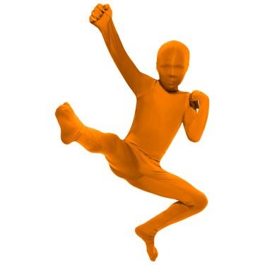 Orange Skin Suit Kids Costume