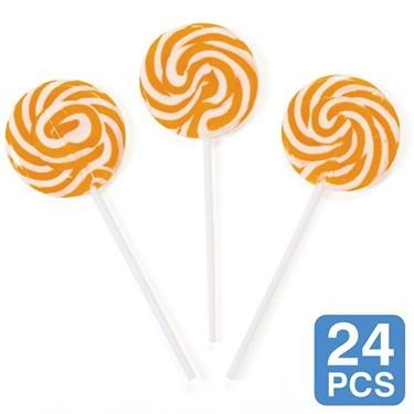 Orange Swirl 2 Lollipops (24)