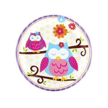 Owl Blossom Dessert Plates