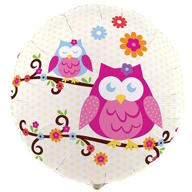 Owl Blossom Foil Balloon
