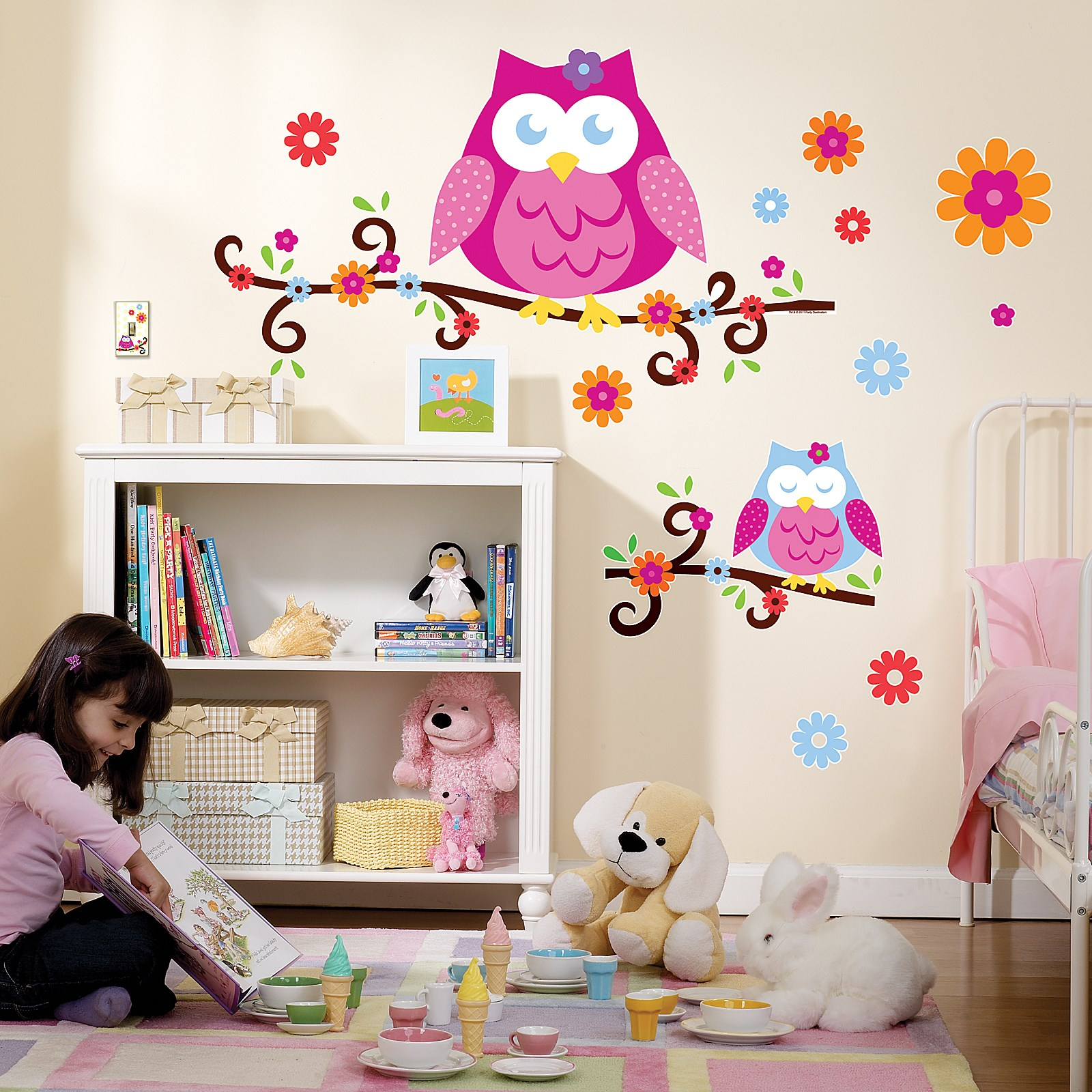 owl blossom giant wall decals  birthdayexpresscom - default image  owl blossom giant wall decals
