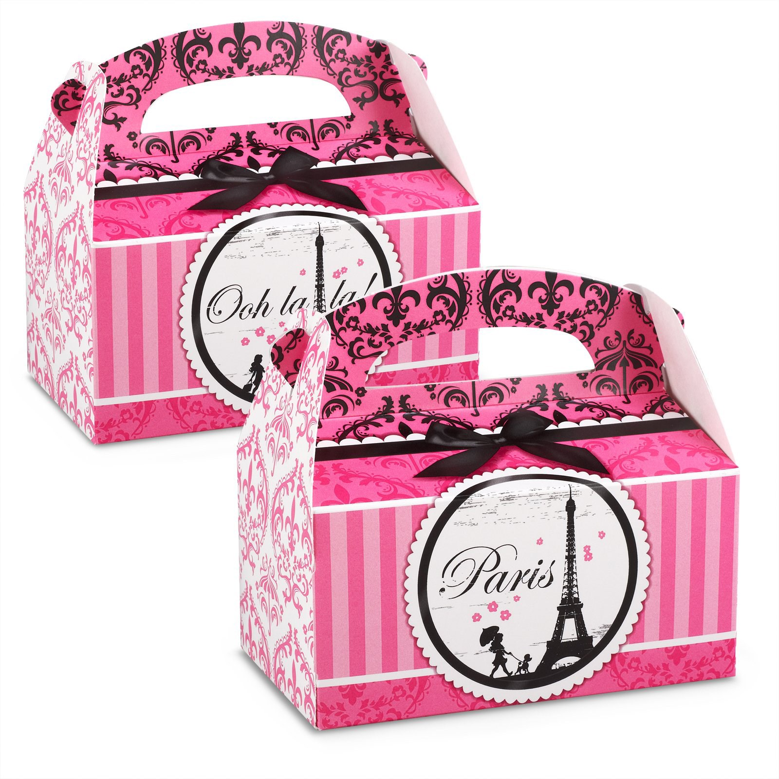 Paris Damask Empty Favor Boxes (4) | BirthdayExpress.com