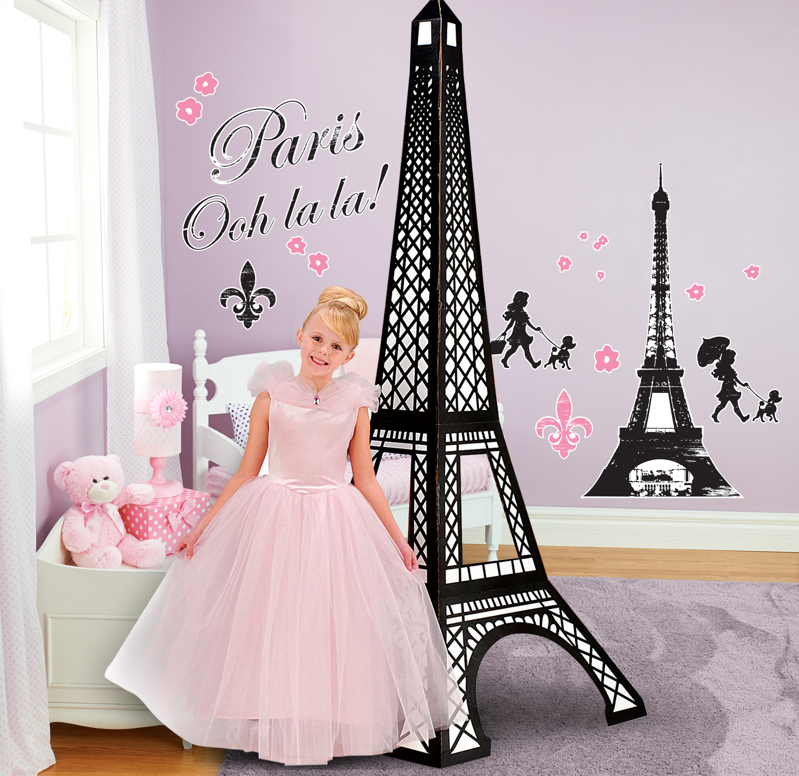 paris damask giant wall decals and standup kit  birthdayexpresscom -