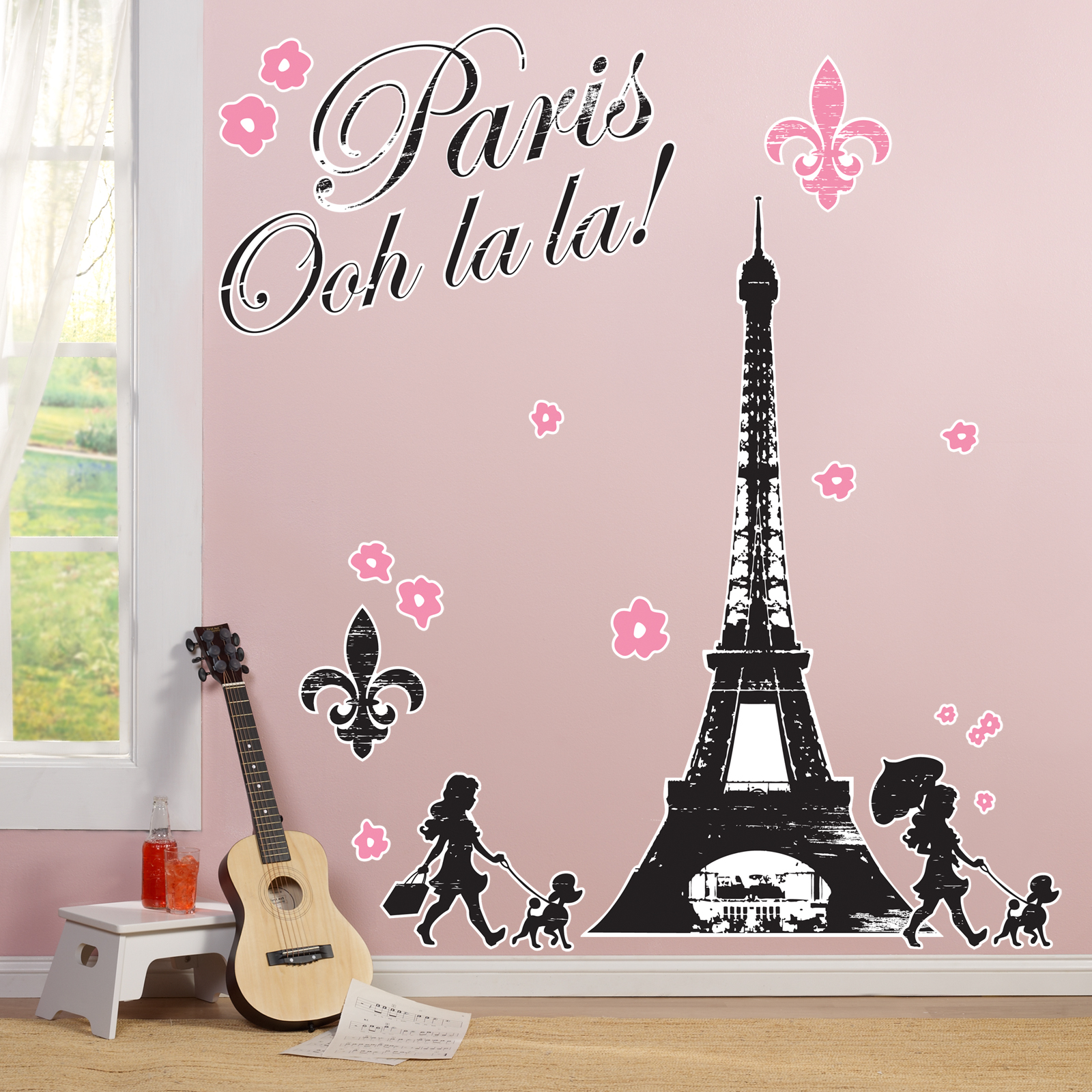 Default Image   Paris Damask Giant Wall Decals