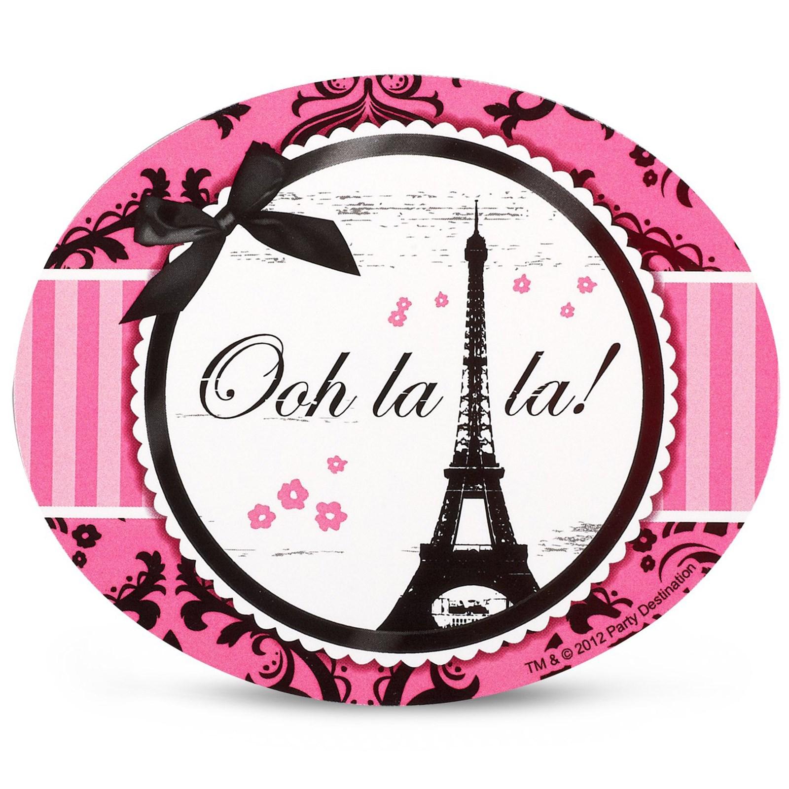 Paris Damask Stickers (4) | BirthdayExpress.com