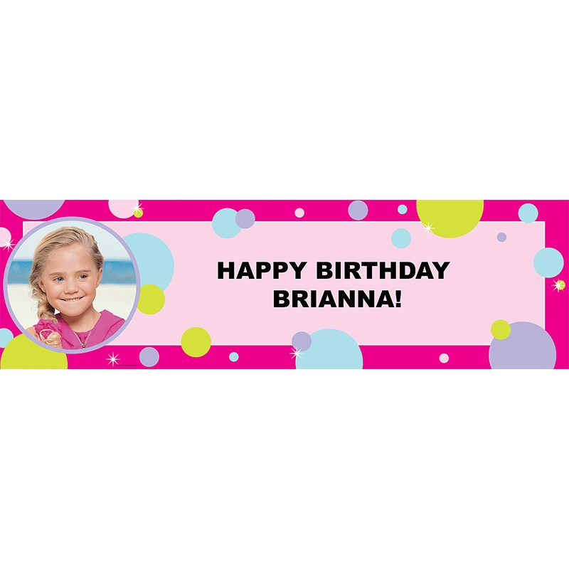 Party Girl Personalized Photo Vinyl Banner
