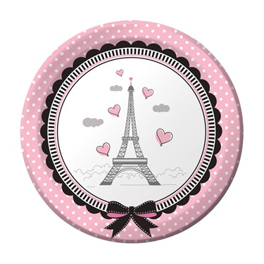 """Party In Paris 7"""" Cake Plate (8)"""