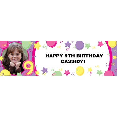 Pastel #9 Personalized Photo Vinyl Banner