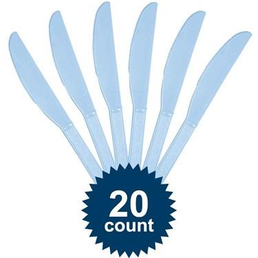 Pastel Blue Plastic Knives 20 Ct
