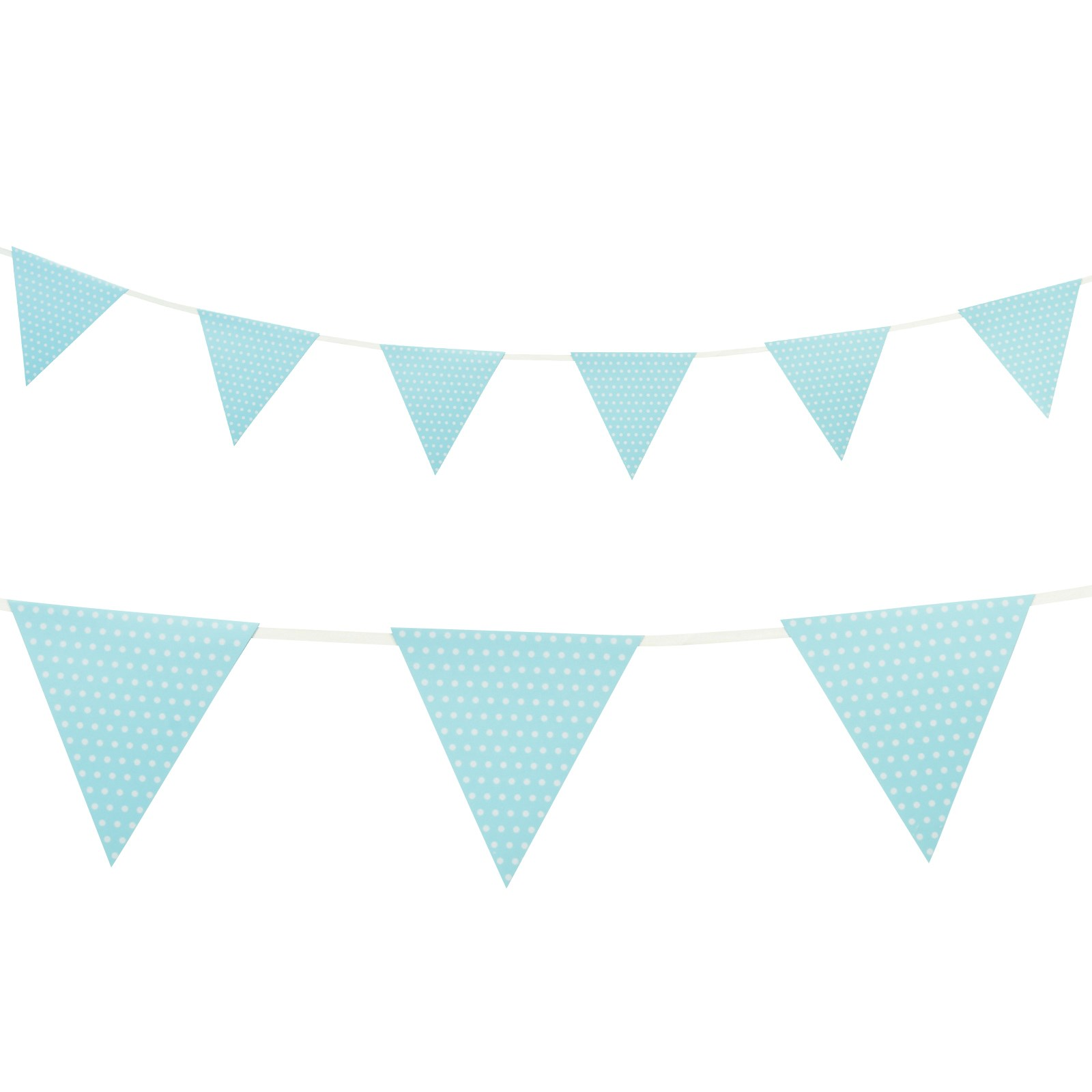 indoor first birthday picture ideas - Pastel Blue with Polka Dots Paper Flag Banner 1