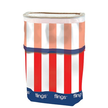Patriotic Flings Pop Up Trash Bin