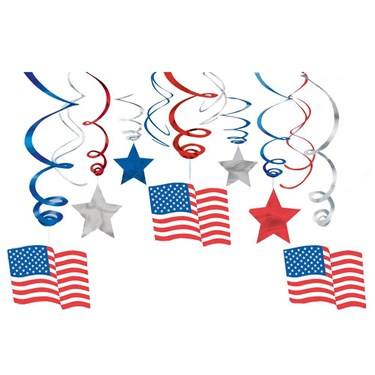Patriotic Mega Value Pack Swirl Decoration