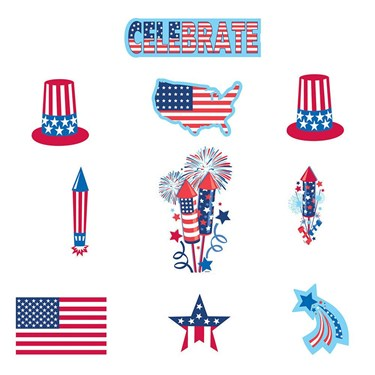 Patriotic Paper Cutouts Decorations Value Pack