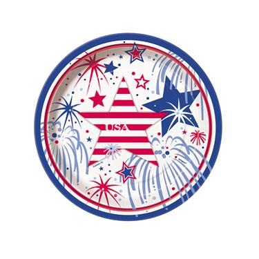 Patriotic Party Dessert Plates (8)
