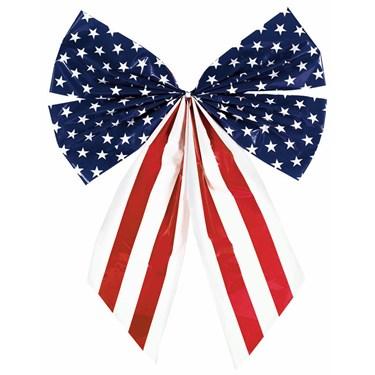 Patriotic Plastic Flag Bow