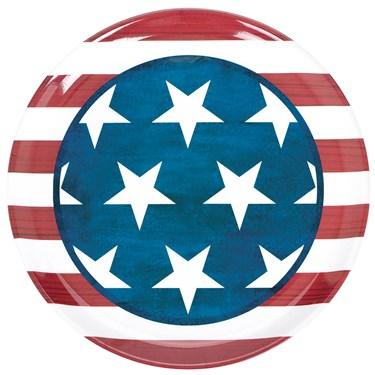Patriotic Round Platter