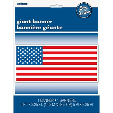 "Patrotic Giant Wall Banner 60""w X 27"" H"