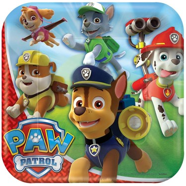 "Paw Patrol 9"" Luncheon Plate (8)"