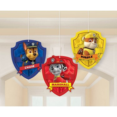 Paw Patrol Honeycomb Decorations (3)