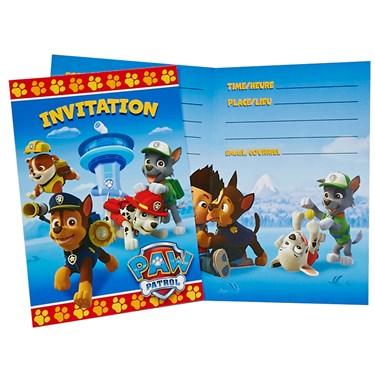 PAW Patrol Invitations (8)