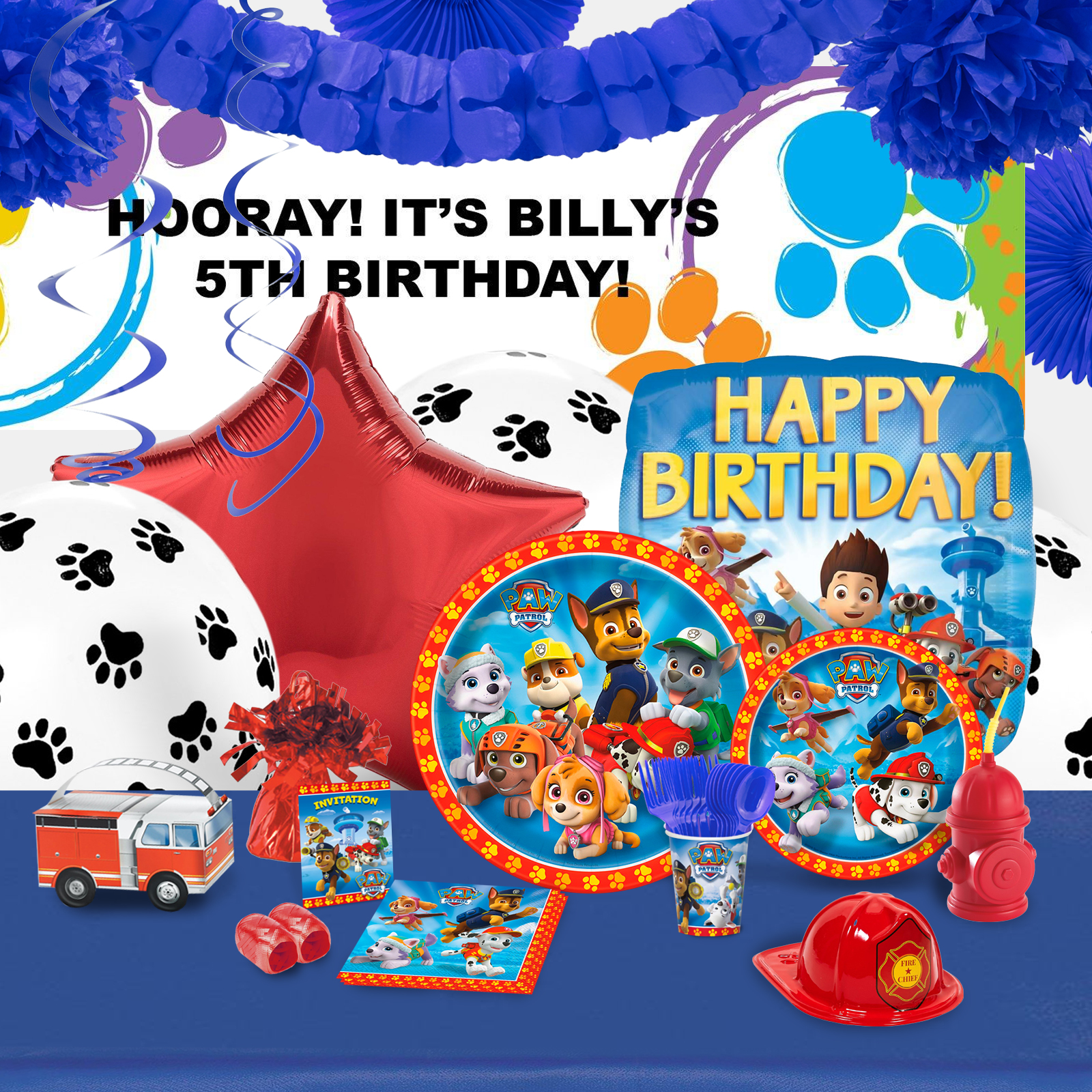 Alt. Image (1) - Paw Patrol Party in a Box For 16