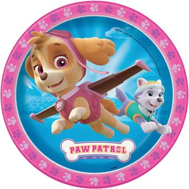 """Paw Patrol Pink 9"""" Lunch Plate (8)"""