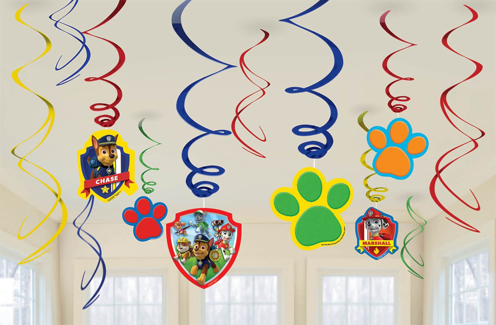 paw patrol swirl decorations - Decorations