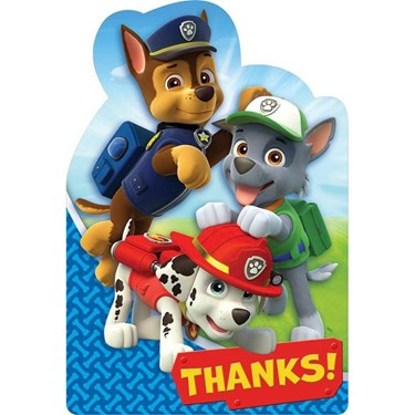 Paw Patrol Thank You Cards (8)
