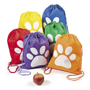 Paw Print Drawstring Backpack(12)