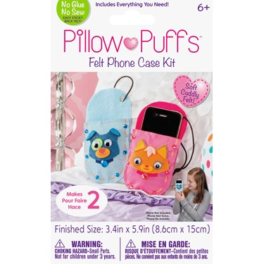 Pillow Puff Cell Phone Cover Kit