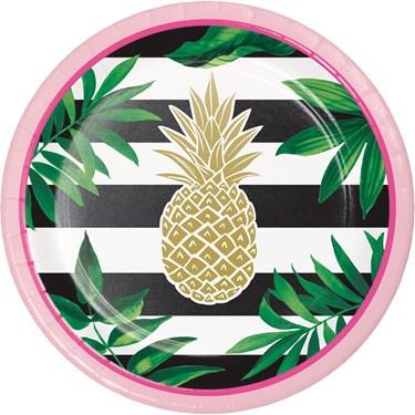 "Pineapple Wedding 7"" Dessert Plate (8)"
