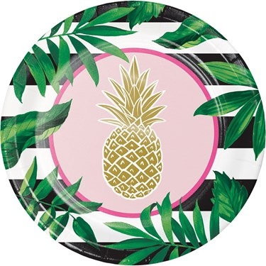 """Pineapple Wedding 9"""" Lunch Plate (8)"""