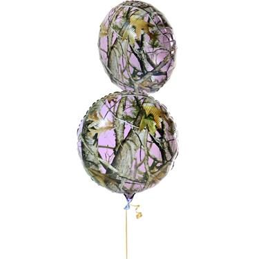 """Pink Camo 18"""" Mylar Balloon (1)"""